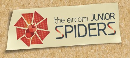 The Junior Spiders logo at the inaugural 2009 website